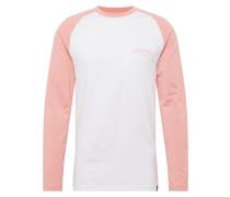 Shirt 'Baseball' rosa / weiß