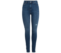 High Waist Jeans blau