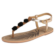 Sandale 'malibu' braun / gold / schwarz