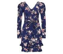 Kleid 'Rouched Sleeve Floral Tea Dress'