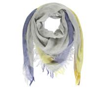 Schal beige / blau / gelb