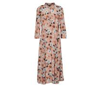 Kleid anthrazit / puder / weiß