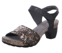 Sandalen schwarz / bronze