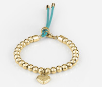 Armband 'Be My Friend' gold / jade