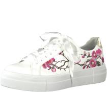 Sneaker gold / pink / weiß