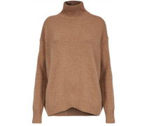 Pullover Relaxed High Neck braun