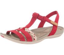 Sandale 'Tealite grace' perlweiß / rot