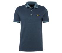 Poloshirt 'Oxford Tipped' blau