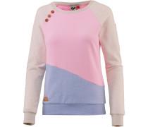 Sweatshirt Damen rauchblau / pink
