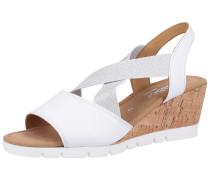 Sandalette silber / weiß