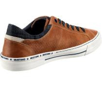 Sneaker Low braun / dunkelblau