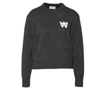 Wollsweater 'anneli' dunkelgrau / weiß