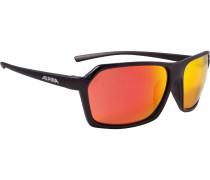Sportbrille 'finety' dunkelorange / schwarz