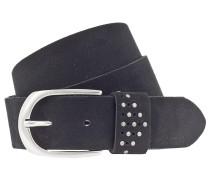 Gürtel schwarz / silber