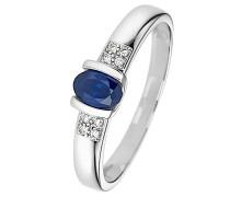 Saphir Ring blau / silber