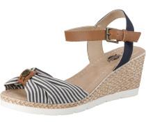 Sandaletten navy / braun / weiß