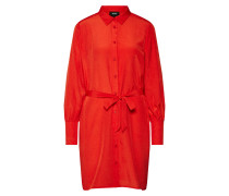Kleid 'dotteo L/S Shirt Dress' feuerrot