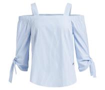 Bluse Amata blau / weiß
