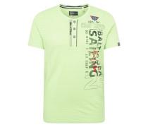 T-Shirt neongrün / rot / schwarz