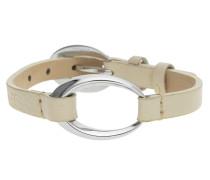 Damen Armband Leder Beige/Silber Ovality Beige Esbr11423D200