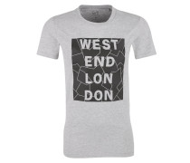 T-Shirt mit 3D-Schriftzug grau