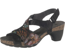 Sandaletten schwarz / mischfarben