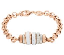 Armband 'jf01121998' rosegold / weiß
