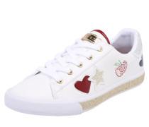 Sneaker 'memphis' mit Strass-Besatz weiß