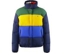 Daunenjacke blau / navy / gelb / grün