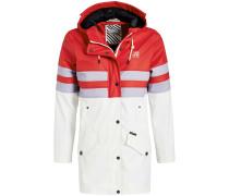 Mantel ' Nancy ' grau / rot / schwarz / weiß