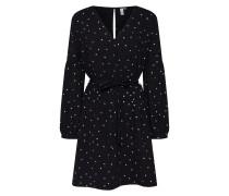 Kleid 'Crepe' grau / schwarz