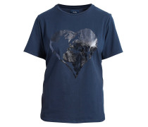 T-Shirt 'Lovely Heart' navy
