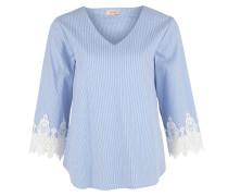 Fineliner-Bluse hellblau / weiß