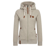 Sweatjacke 'Blonder Engel' taupe