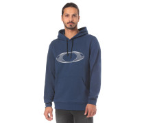 'Fleece Ellipse New' Kapuzenpullover blau