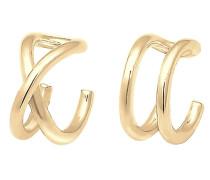 Earcuff 'Geo Kreuz' gold