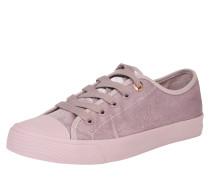 Sneaker im Samt-Look lila