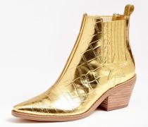 Stiefelette 'Nea' gold