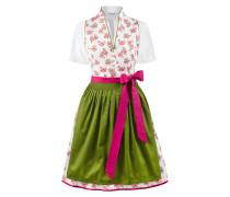 Dirndl 'Peggy' grün / pink / weiß