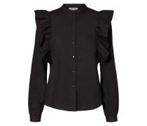 Rüschen-Hemd schwarz