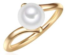 Ring gold / perlweiß