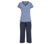 Capri-Pyjama blau