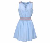 Trägerkleid blau
