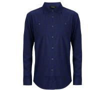 Freizeithemd dunkelblau / schwarz