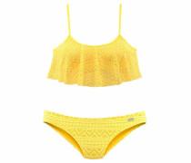 Bustier-Bikini in Häkeloptik gelb