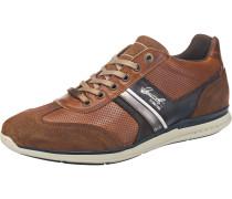 Sneakers Low navy / braun / silber
