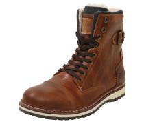 Stiefel aus echtem Leder rostbraun