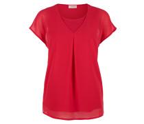 Blusenshirt aus Chiffon rot