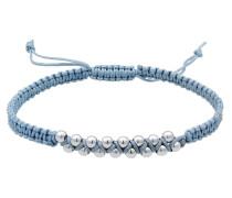 Armband taubenblau / silber