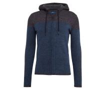 Strickjacke blau / graphit